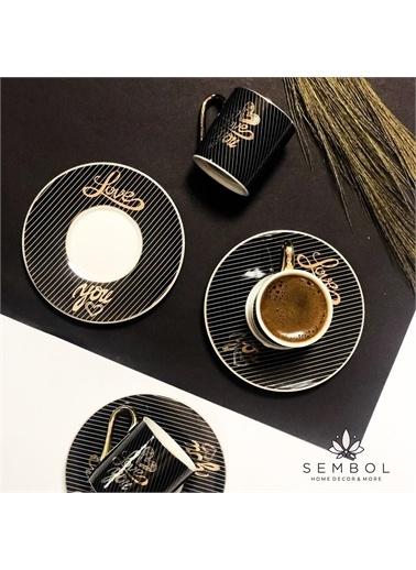 Sembol Love You 6 Lı Kahve Takımı Renkli